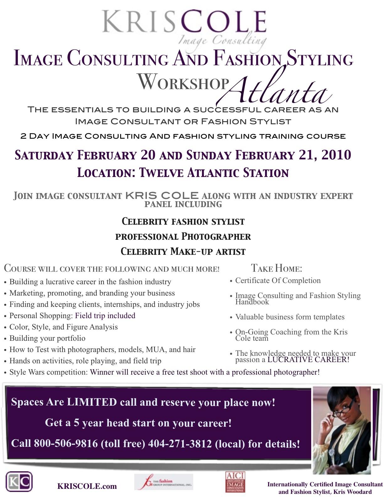 Image Consulting And Fashion Styling Workshop Atlanta .  Fashion Stylist Resume